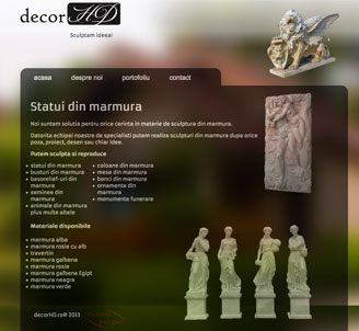 decorhd.ro web design